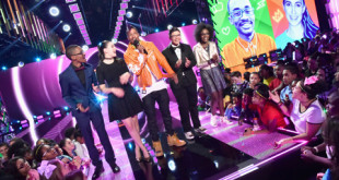NEW YORK, NY - NOVEMBER 11:  (L-R) Chris Suggs, Lillian Pravda, Nick Cannon, Jonas Corona, and Grace Callwood speak onstage at the 2016 Nickelodeon HALO awards at Basketball City Pier 36 - South Street on November 11, 2016 in New York City.  (Photo by Michael Loccisano/Getty Images) *** Local Caption *** Chris Suggs;Jonas Corona;Nick Cannon;Lillian Pravda;Grace Callwood